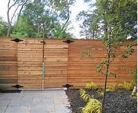 horizontal wood fence Modern Horizontal Cedar Fence. - Straight Line Fence