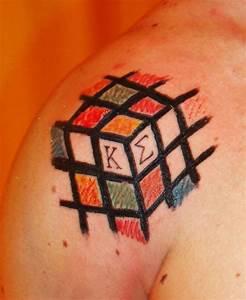 Rubik Cube Tattoo   Tattoo Boy