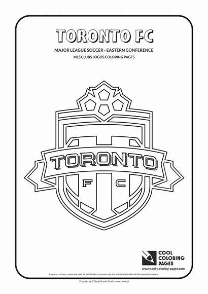 Coloring Pages Logos Soccer Cool Toronto Fc