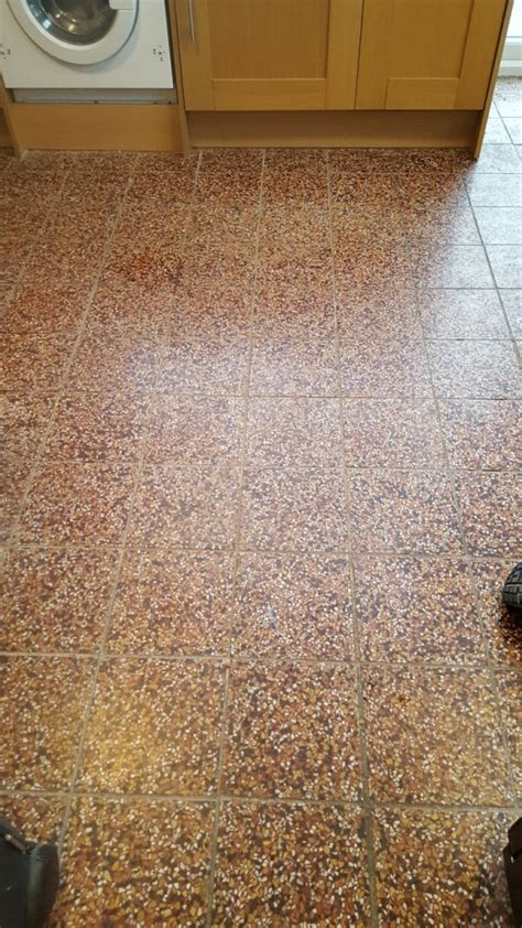 Cleaning Terrazzo Floor Tiles by Restoring Terrazzo Kitchen Tiles In Cheshire