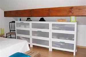 Meuble Pour Comble : meubles pour sous pente awesome meuble pour chambre ~ Edinachiropracticcenter.com Idées de Décoration