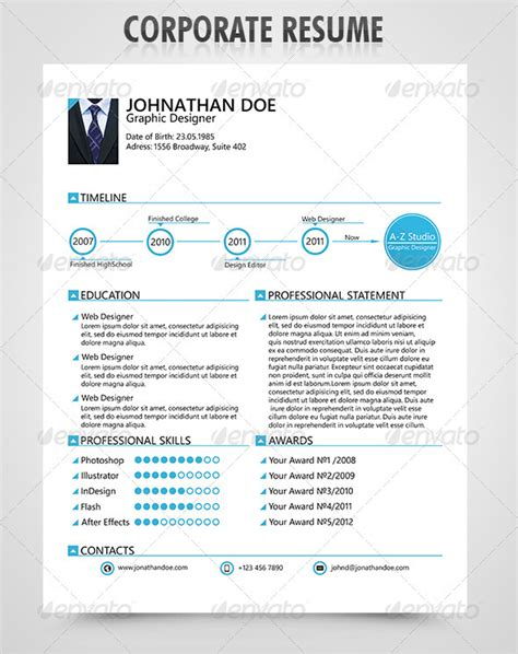 Corporate Resumes Templates by 50 Professional Resume Styles And Ideas Sixthlifesixthlife