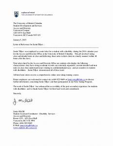 Reference Letter, The University of British Columbia  Justin Tillyer
