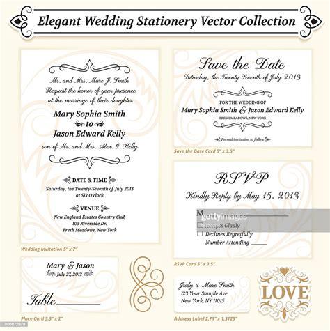Elegant Wedding Invitation Template Royalty Free Vector