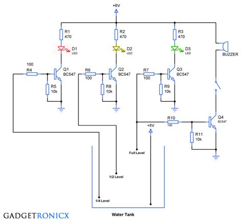 Water Level Indicator Circuit Electronic Circuits