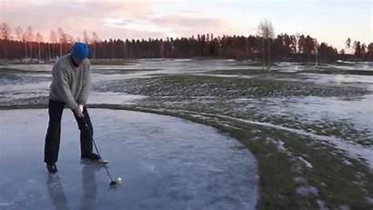 Golf Ice Sweden Play Trying Golfers Covered