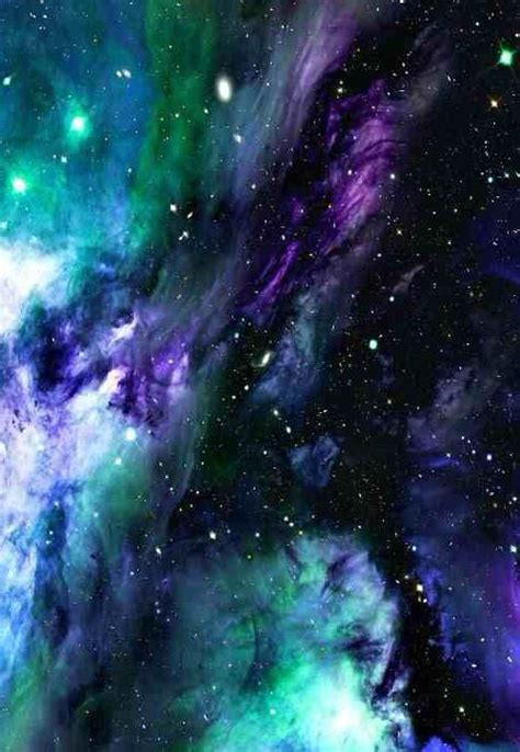 Find & download free graphic resources for blue background. purple blue & green galaxy /nebula   Green galaxy, Nebula, Galaxy art