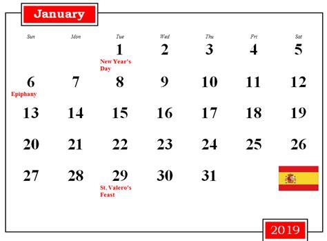 spain  printable calendar  holidays holiday