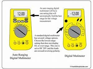 Digital Multimeter  Battery Voltage Test