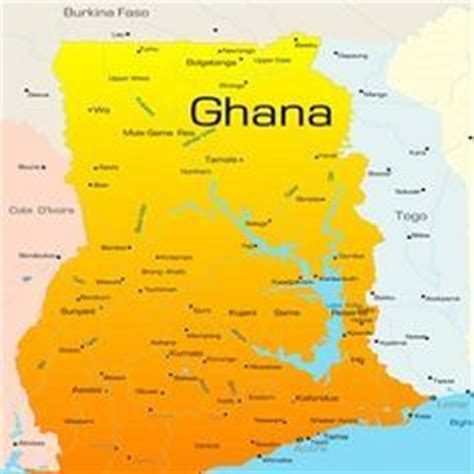map  ghana  ghanaian political map travel