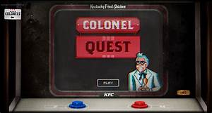 """KFC Just Dropped a Next-Level Online Video Game, """"Colonel ..."""