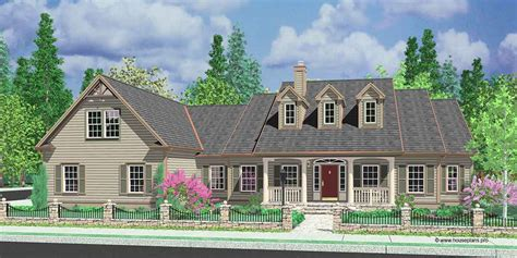 colonial house plans dormers bonus room  garage single level
