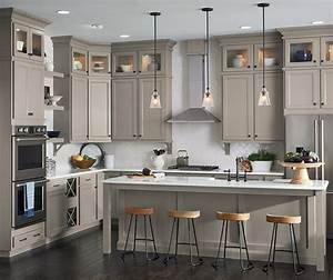 Find Warmth And Depth In A Stone Gray Finish On Purestyle Laminate Aristokraft Cabinets While