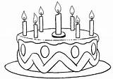 Coloring Cake Birthday Pages sketch template