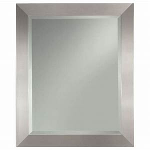 Rectangle mirrors wall allen and roth closet organizers for Kitchen cabinets lowes with large silver wall art