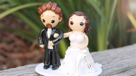 wedding cake topper polymer clay process video youtube