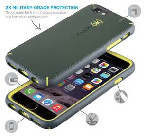 Speck Products MIghtyShell Case for iPhone 6/iPhone 6S, Charcoal Grey/Tennis Ball Green/Gravel Grey