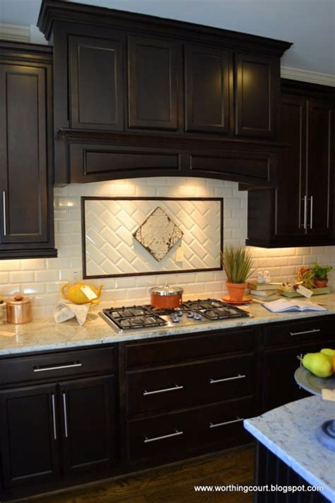 ideas  backsplash ideas  dark cabinets loccie  homes gardens ideas