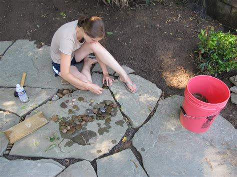 learn about installing finishing touches for a flagstone