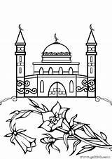 Mosque Coloring Pages Masjid Drawing صور تلوين Ramadan مساجد Colouring Islamic Jawaher Minaret Printable Sketch Print Getcolorings Studies Drawings Paintingvalley sketch template