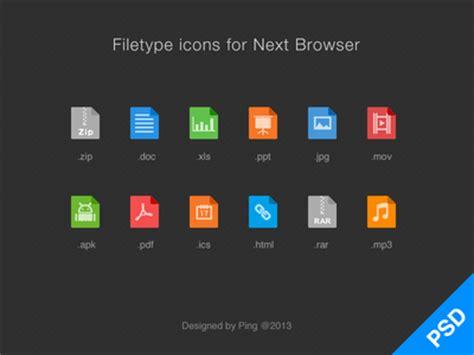 flat filedocument type icon sets