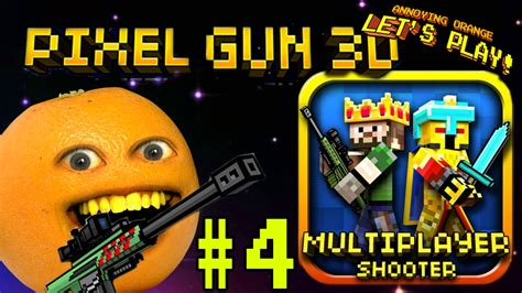 annoying orange plays pixel gun  laser face youtube