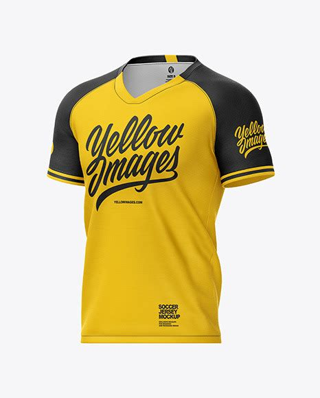 Mens heather cuffed sweatpants back view jersey mockup psd file 109.73mb. Men's Soccer Jersey Mockup - Half-Side View in Apparel ...