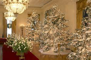 the christmas decorations in the east room of the white house the press was allowed inside the