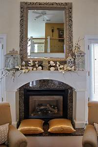 Maison, Decor, Styling, A, Mantle, With, Lanterns, And, Florals