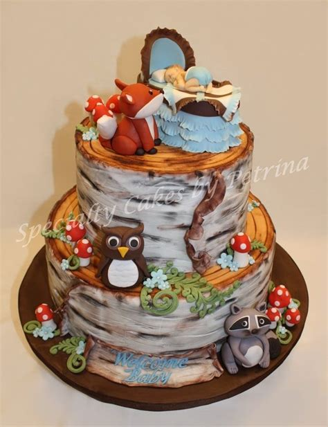baby shower cakes  woodland animals google search