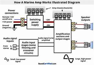 Power Acoustik 1300 Watt Marine Amp Wiring Diagram