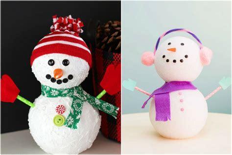 décorations de noël à faire soi même decoration de noel bonhomme de neige