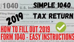 How To Fill 2019 Form 1040