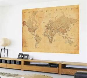 Affiche Carte Du Monde : carte du monde ancienne poster mural g ant peintures ~ Dailycaller-alerts.com Idées de Décoration