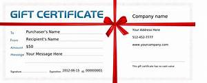 Blank Templates For Gift Certificates Certificate234
