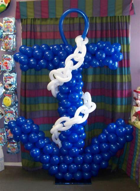 nautical theme anchor balloon sculpture birthday