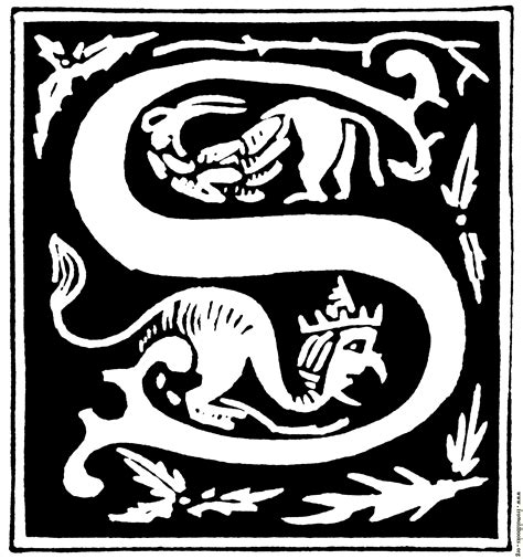 decorative initial letter    century