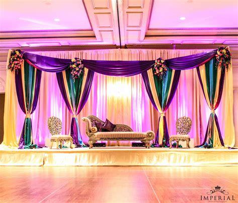 Colorful Mehendi Stage Indian Events Desi Wedding