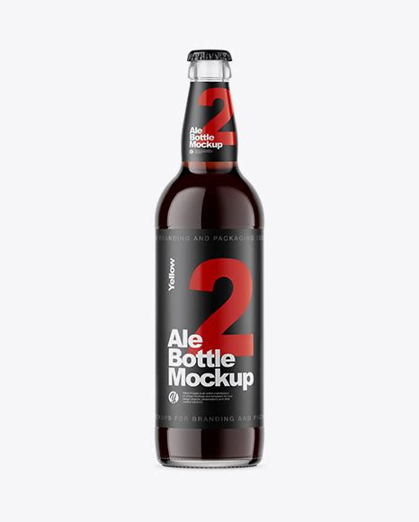 Bottle mockups make the process of presenting and packaging your designs in high quality photorealistic manner possible. Download Psd Mockup Alcohol Ale Beer Beverage Bottle Brown ...