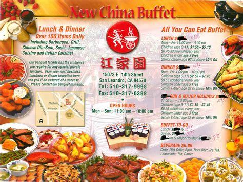 New China Buffet Menu San Leandro Dineries
