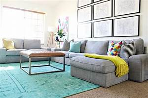 Colorful living room furniture, living room updates and
