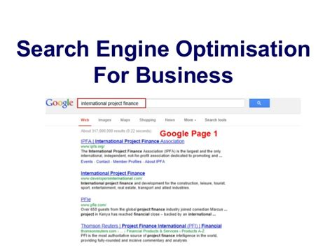 Search Engine Optimisation Business by Search Engine Optimisation For Business