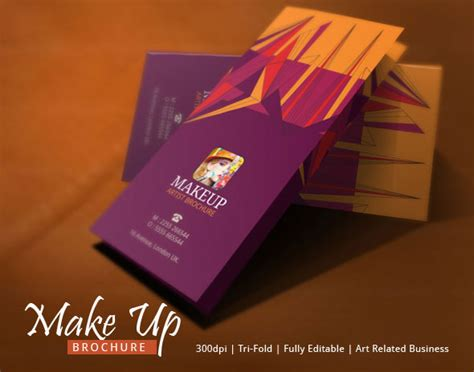 makeup brochure template modern design  behance