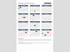 Calendario laboral 2019, calendarios con festivos por