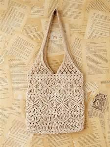 free vintage macrame handbag in white lyst