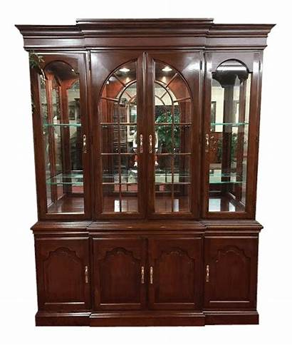 Harden Furniture China Cabinet Cherry Solid Lighted