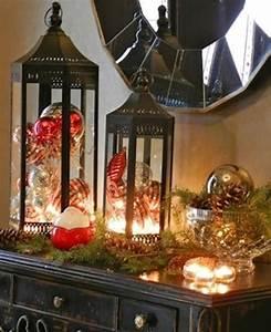 Lanterne Deco Interieur : 35 id es de d coration de no l qui apporteront de la joie votre maison ~ Teatrodelosmanantiales.com Idées de Décoration