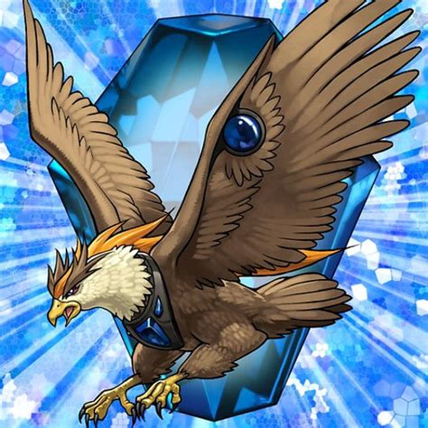 eagle beast crystal cobalt yu gi oh anime yugioh card monster winged aguila eagles deck dragon wind level fantasy cards