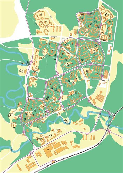 Карта города Сосновый Бор с улицами