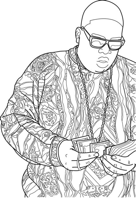 THE NOTORIOUS B.I.G. | Coloring books, Notorious big tattoo, Adult coloring pages